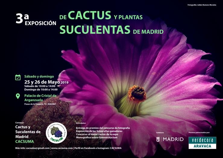 Cartel 3 Exposición de Cactus y Plantas Suculentas de Madrid
